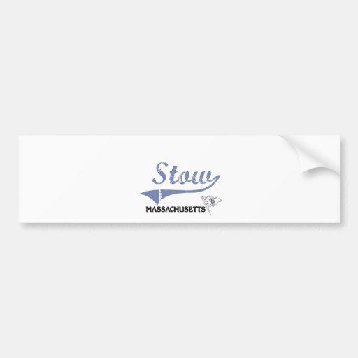 Stow Massachusetts City Classic Bumper Sticker