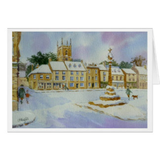 Stow on the Wold in Snow Greeting Card