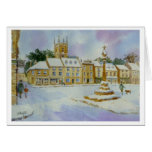 Stow on the Wold in Snow Greeting Cards