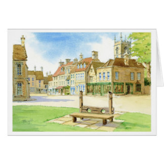 STOW ON THE WOLD STOCKS GREETING CARD