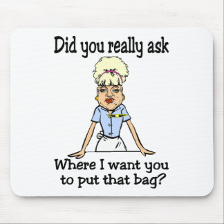 Stow the Bag Mouse Pad
