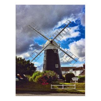 Stow Windmill Paston Postcard