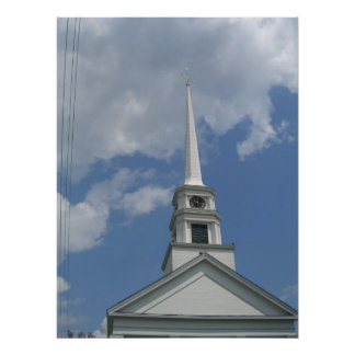 stowe community church steeple poster