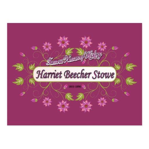 Stowe ~ Harriet Beecher Stowe / Famous USA Women Postcard