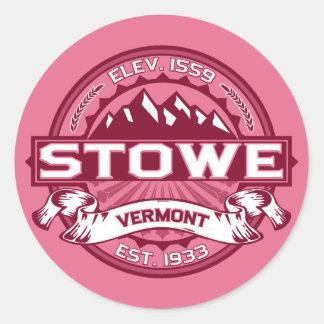 Stowe Logo Honeysuckle Classic Round Sticker