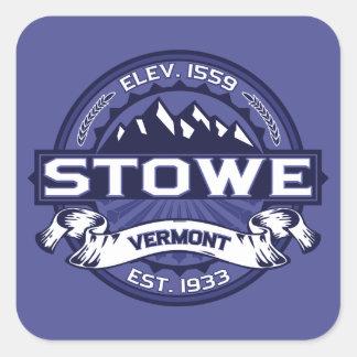 Stowe Logo Midnight Square Sticker