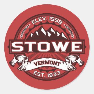 Stowe Logo Red Classic Round Sticker