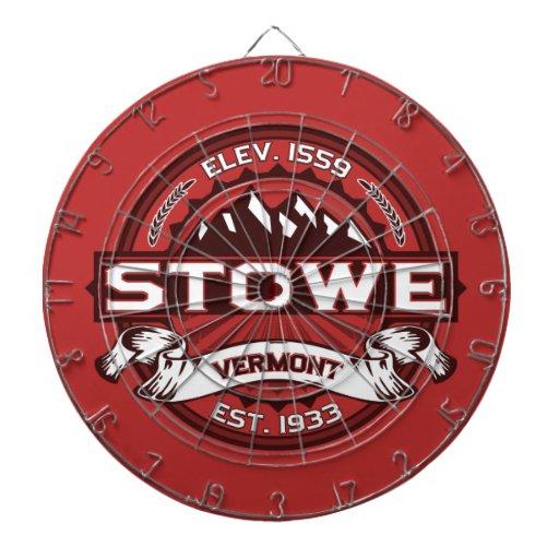 Stowe Logo Red Dartboard With Darts