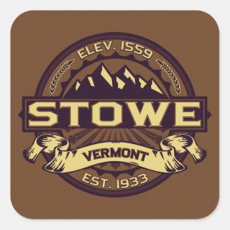 Stowe Logo Sepia Square Sticker
