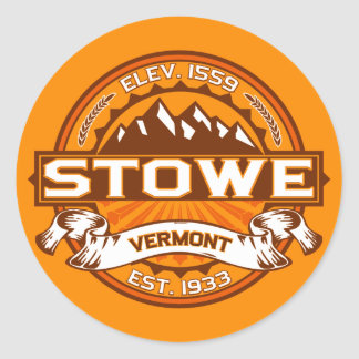 Stowe Logo Tangerine Classic Round Sticker