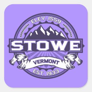 Stowe Logo Violet Square Sticker