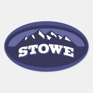 Stowe Midnight Oval Sticker