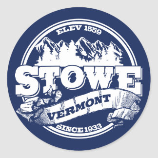 Stowe Old Circle Blue Classic Round Sticker