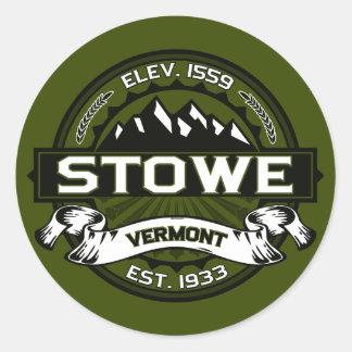 Stowe Olive Logo Classic Round Sticker