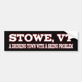 Stowe Skiing Problem Car Bumper Sticker