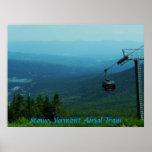 Stowe, tranvía de la antena de Vermont Poster