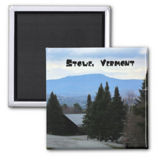 Stowe, Vermont 2 Inch Square Magnet