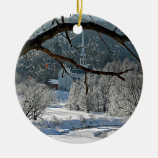 Stowe Vermont Ceramic Ornament