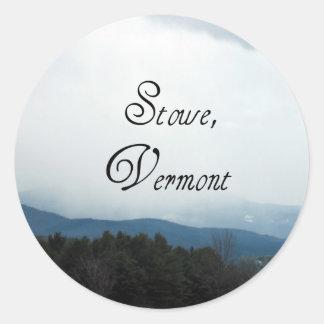 Stowe, Vermont Classic Round Sticker