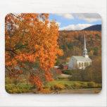 Stowe Vermont en otoño Tapetes De Ratón