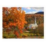 Stowe Vermont en otoño Tarjeta Postal