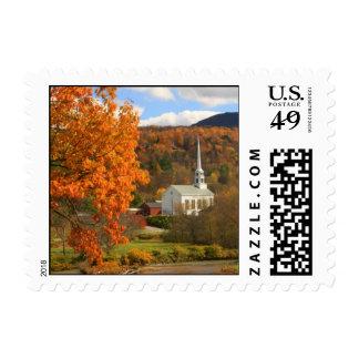 Stowe Vermont in Autumn Stamp