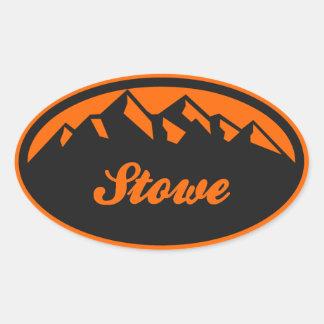 Stowe Vermont Oval Sticker