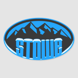 Stowe Vermont Snowcapped Oval Sticker