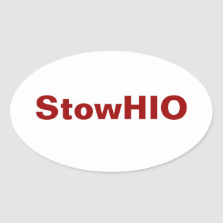StowHIO Oval Sticker