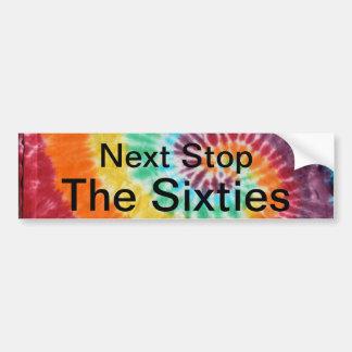 Stp siguiente los años 60 etiqueta de parachoque