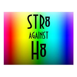 STR8 AGAINST H8 POSTCARD