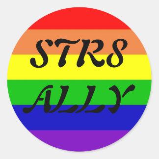 STR8 ALLY CLASSIC ROUND STICKER
