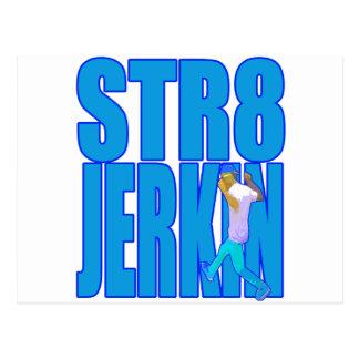STR8 JERKIN jerk jerking dance hip-hop rap music Postcard