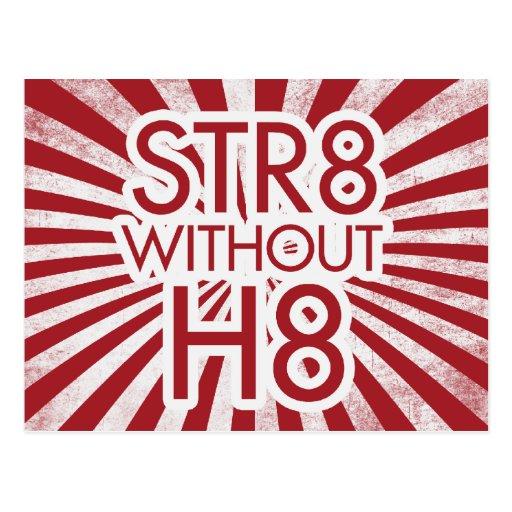 STR8 sin H8 ningún apoyo 8 Postal