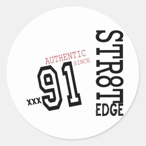 STR8T EDGE TEMPLATE copy.png Classic Round Sticker