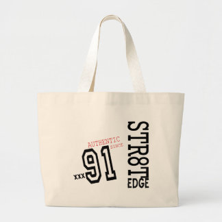 STR8T EDGE TEMPLATE copy.png Large Tote Bag