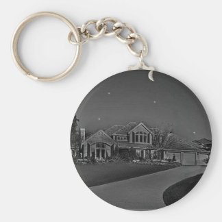 Str and moon lit ight keychain