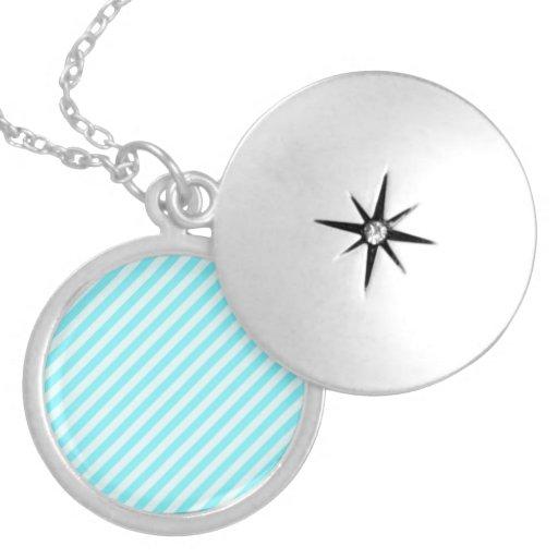 [STR-AQ-1] Aguamarina y bastón de caramelo blanco  Collar