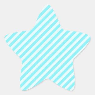 [STR-AQ-1] Aguamarina y bastón de caramelo blanco Pegatina En Forma De Estrella