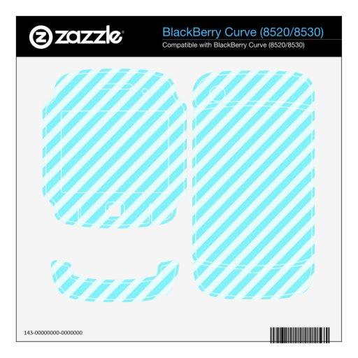 [STR-AQ-1] Aguamarina y bastón de caramelo blanco  BlackBerry Curve Skin