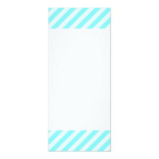 [STR-AQ-1] Aqua and white candy cane striped Card