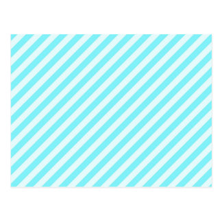 [STR-AQ-1] Aqua and white candy cane striped Postcard