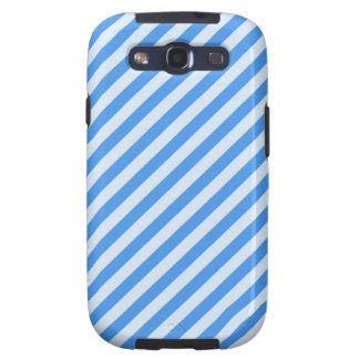 [STR-BLU-01] Blue candy cane striped Samsung Galaxy SIII Case