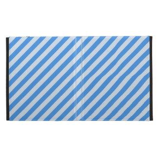 [STR-BLU-01] Blue candy cane striped iPad Folio Cases