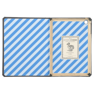 [STR-BLU-01] Blue candy cane striped iPad Air Covers