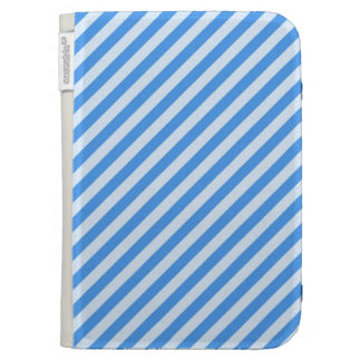 [STR-BLU-01] Blue candy cane striped Kindle Covers