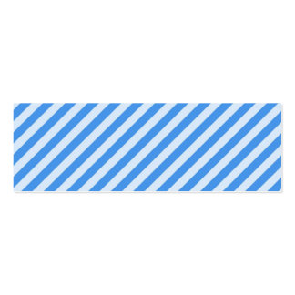 [STR-BLU-01] Blue candy cane striped Double-Sided Mini Business Cards (Pack Of 20)