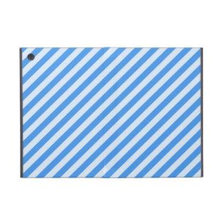 [STR-BLU-01] Blue candy cane striped Covers For iPad Mini