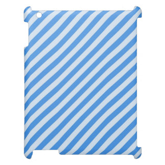 [STR-BLU-01] Blue candy cane striped Case For The iPad 2 3 4