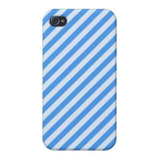 [STR-BLU-01] Blue candy cane striped iPhone 4 Case